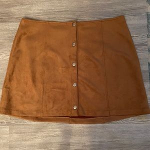 NWOT Suede Skirt